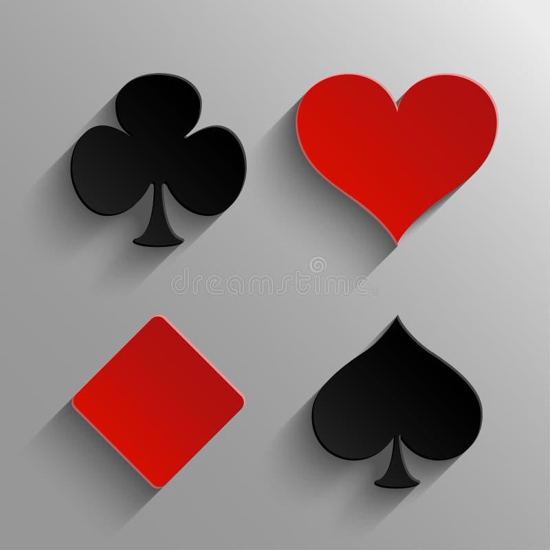 Σύμβολα καρτών παιχνιδιού ελεύθερη απεικόνιση δικαιώματος