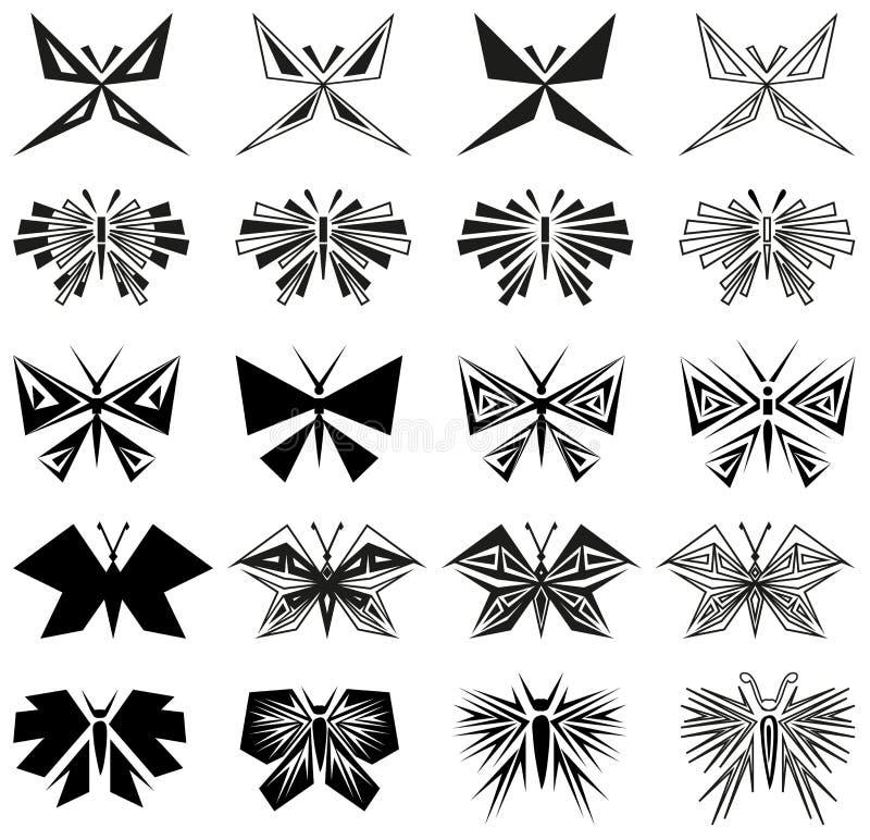 Σύμβολα πεταλούδων απεικόνιση αποθεμάτων