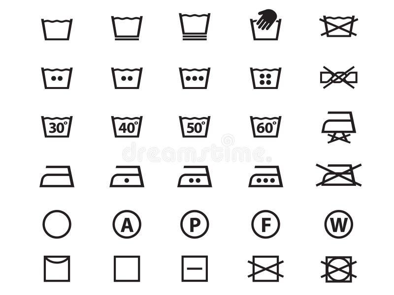 Σύμβολα πλυντηρίων απεικόνιση αποθεμάτων