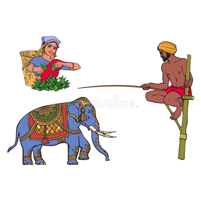 Σύμβολα της διανυσματικής Σρι Λάνκα, Ινδία καθορισμένα απεικόνιση αποθεμάτων