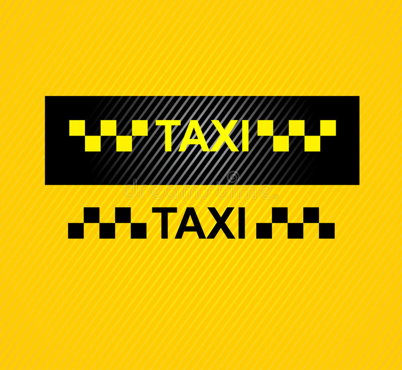 Σύμβολο αμαξιών ταξί ελεύθερη απεικόνιση δικαιώματος
