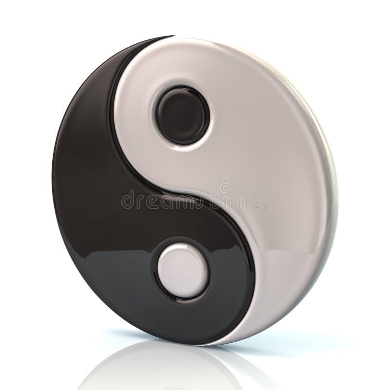 σύμβολο αρμονίας yang ying απεικόνιση αποθεμάτων