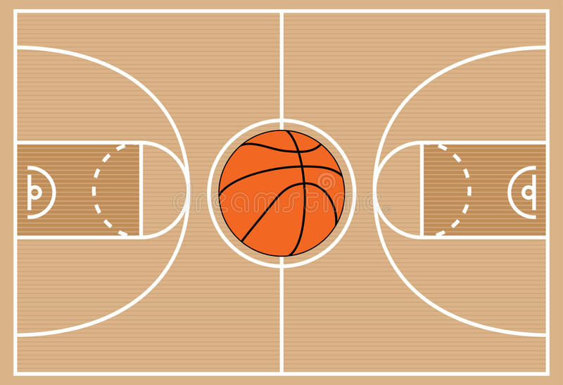 Σύμβολο γήπεδο μπάσκετ διανυσματική απεικόνιση