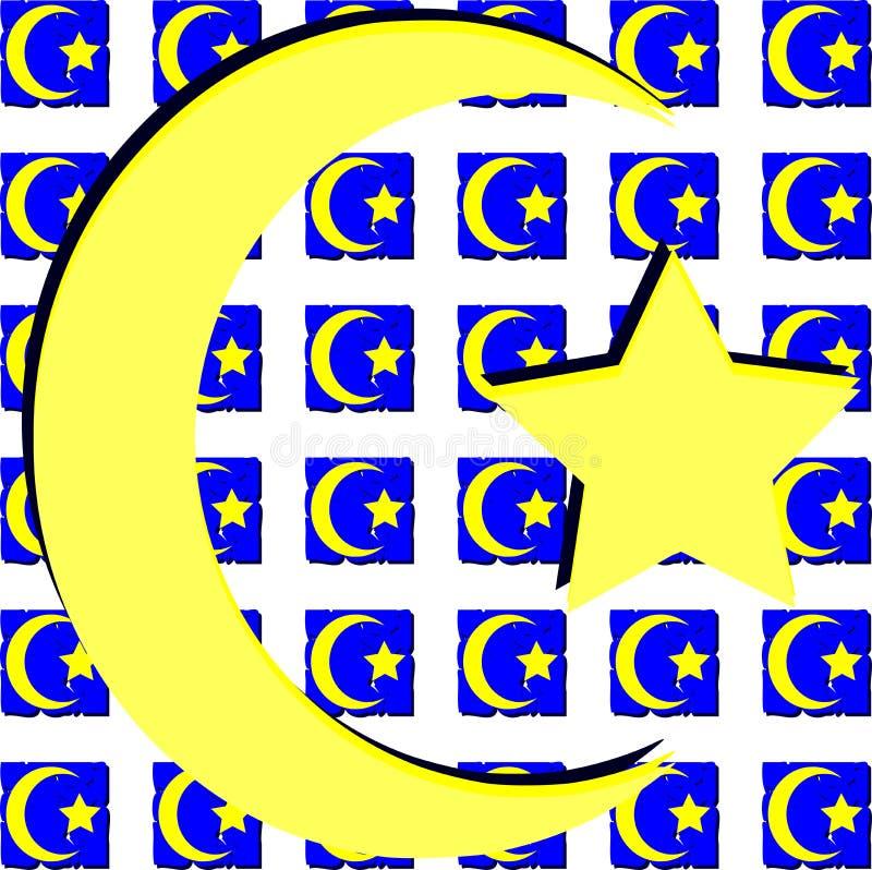 Σύμβολο Ισλάμ στην καλλιτεχνική σύσταση απεικόνιση αποθεμάτων