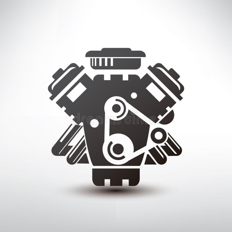Σύμβολο μηχανών αυτοκινήτων ελεύθερη απεικόνιση δικαιώματος