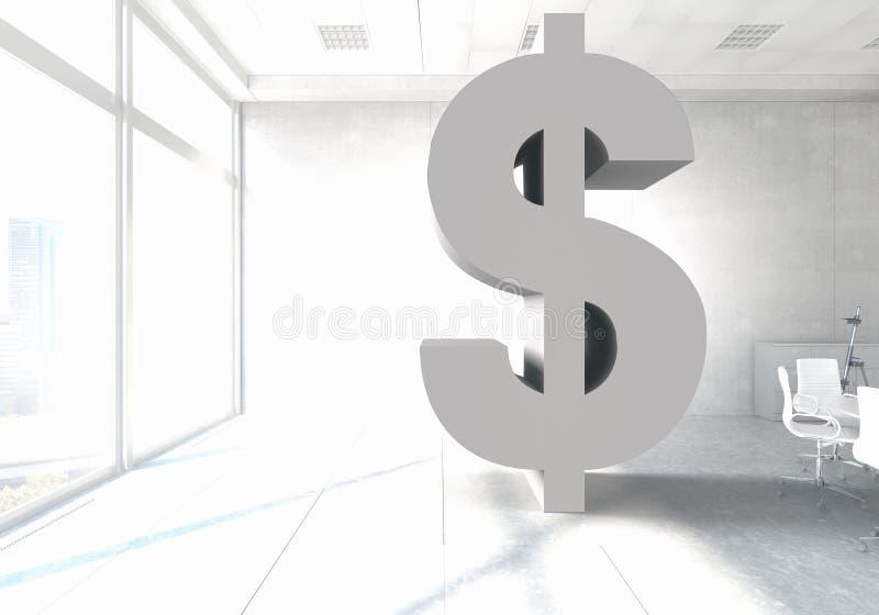 Σύμβολο νομίσματος δολαρίων Μικτά μέσα στοκ εικόνα