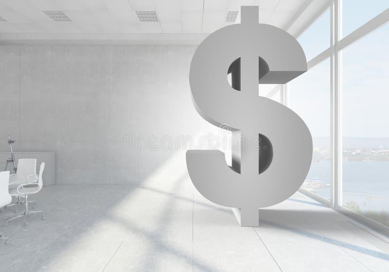 Σύμβολο νομίσματος δολαρίων Μικτά μέσα στοκ εικόνες