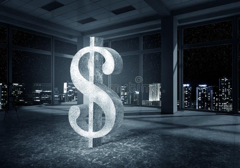 Σύμβολο νομίσματος δολαρίων στοκ φωτογραφία με δικαίωμα ελεύθερης χρήσης