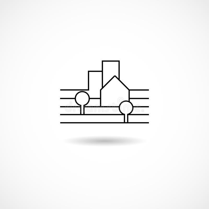 Σύμβολο πόλεων διανυσματική απεικόνιση