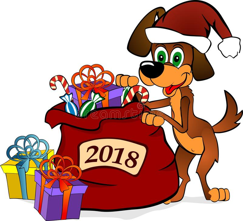 Σύμβολο σκυλιών του νέου έτους του 2018 στοκ εικόνες
