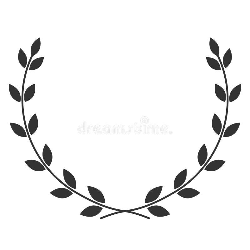Σύμβολο στεφανιών δαφνών απεικόνιση αποθεμάτων