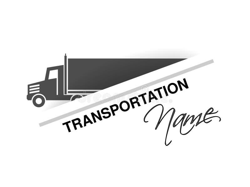 Σύμβολο της μεταφοράς, σκιαγραφία του φορτηγού, φορτηγό Σχέδιο για τη μεταφορά εμπορικών σημάτων ελεύθερη απεικόνιση δικαιώματος