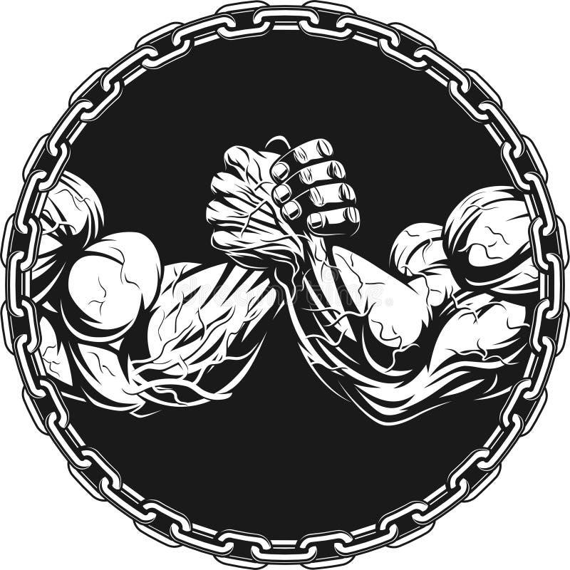 Σύμβολο του ανταγωνισμού απεικόνιση αποθεμάτων