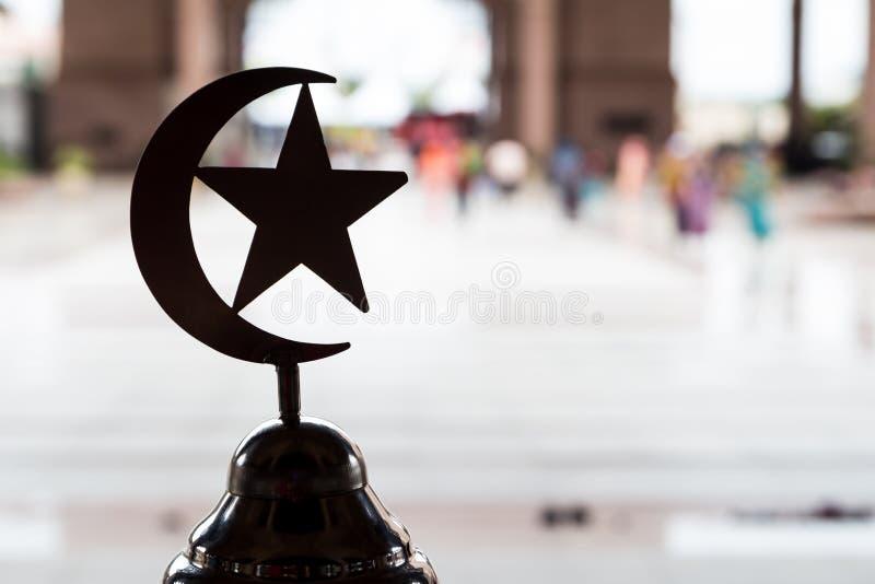 Σύμβολο του Ισλάμ στο μουσουλμανικό τέμενος στοκ εικόνα
