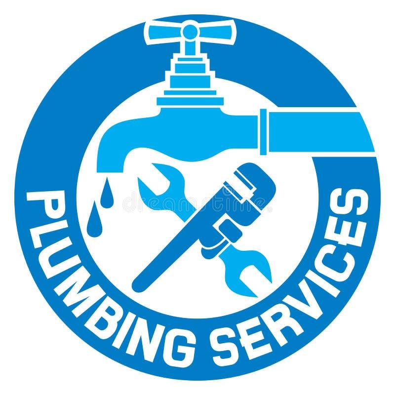 Σύμβολο υδραυλικών επισκευής διανυσματική απεικόνιση