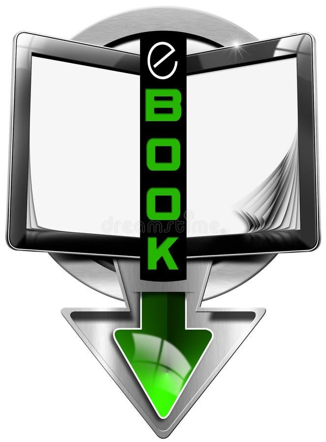 Σύμβολο EBook με τον υπολογιστή ταμπλετών ελεύθερη απεικόνιση δικαιώματος
