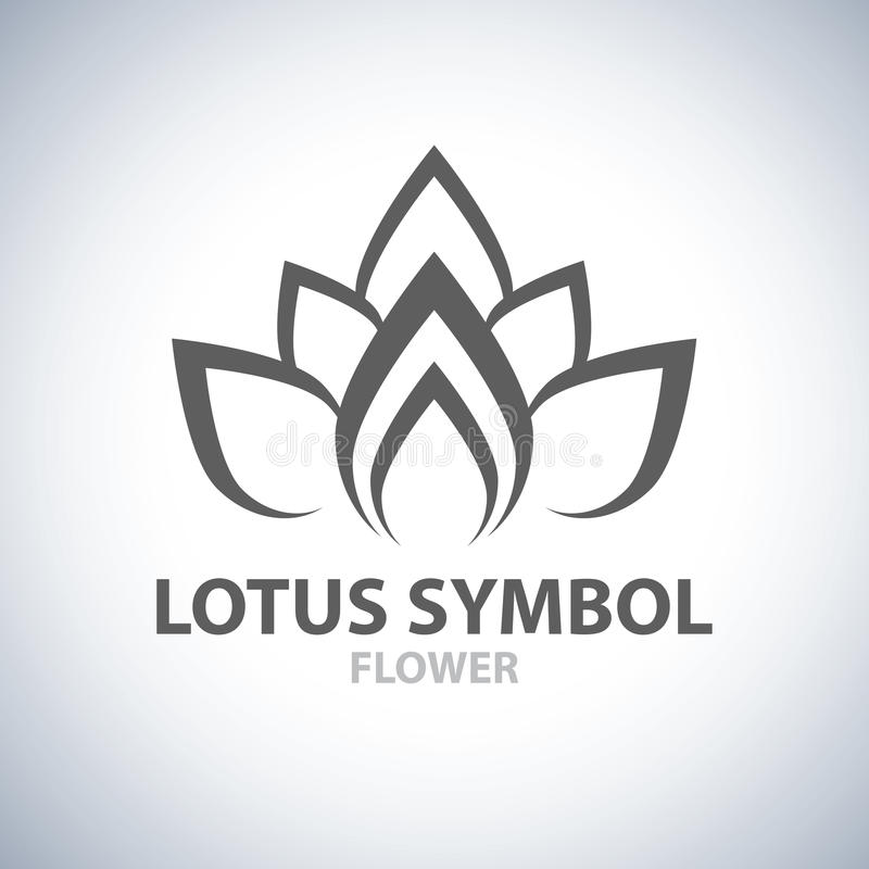 Σύμβολο Lotus διανυσματική απεικόνιση