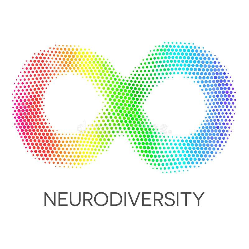 Σύμβολο Neurodiversity Βρόχος απείρου ουράνιων τόξων απεικόνιση αποθεμάτων