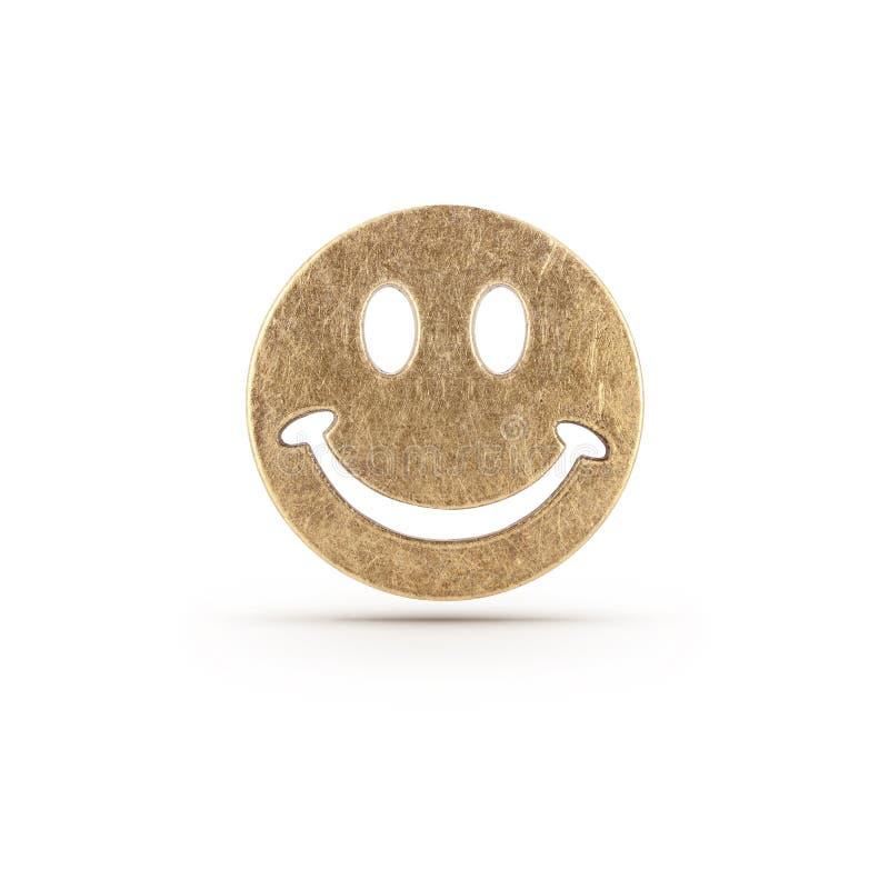 Σύμβολο smiley χαλκού στοκ φωτογραφίες