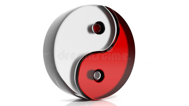σύμβολο yang yin διανυσματική απεικόνιση