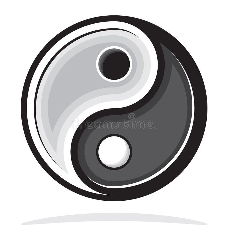 Σύμβολο Ying yang της αρμονίας και της ισορροπίας διανυσματική απεικόνιση