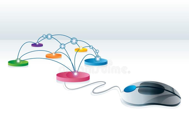 σύνδεση Διαδίκτυο διανυσματική απεικόνιση