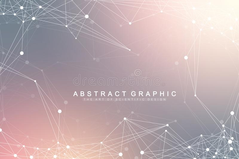 Σύνδεση παγκόσμιων δικτύων Δίκτυο και μεγάλο υπόβαθρο απεικόνισης στοιχείων Φουτουριστικό παγκόσμιο επιχειρηματικό πεδίο διάνυσμα διανυσματική απεικόνιση