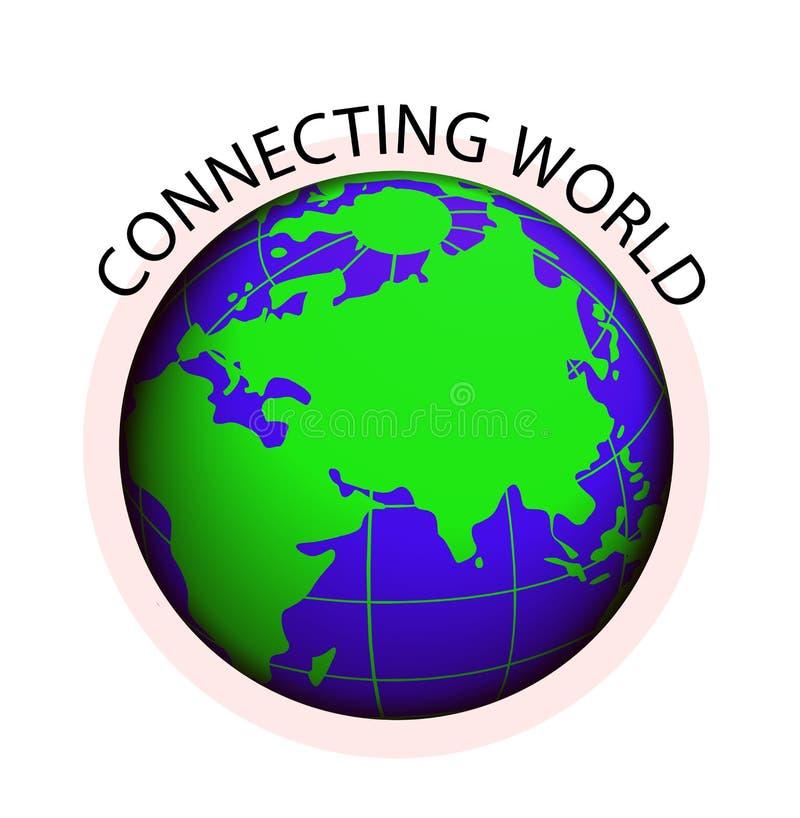 Σύνδεση του κόσμου διανυσματική απεικόνιση