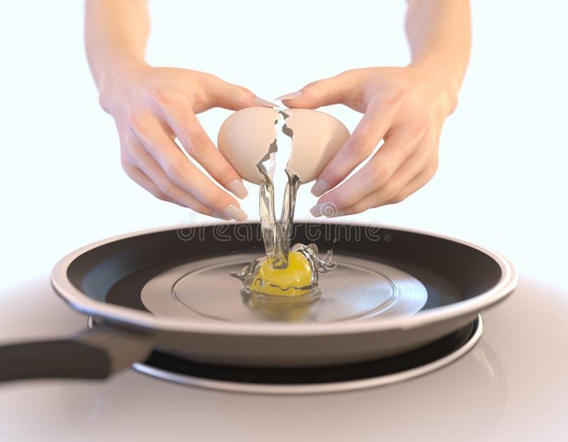 Σύνθεση έννοιας χεριών αυγών και γυναικών ρωγμών στοκ εικόνα