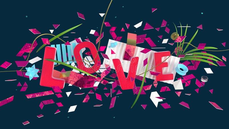 Σύνθεση λέξης αγάπης απεικόνιση αποθεμάτων