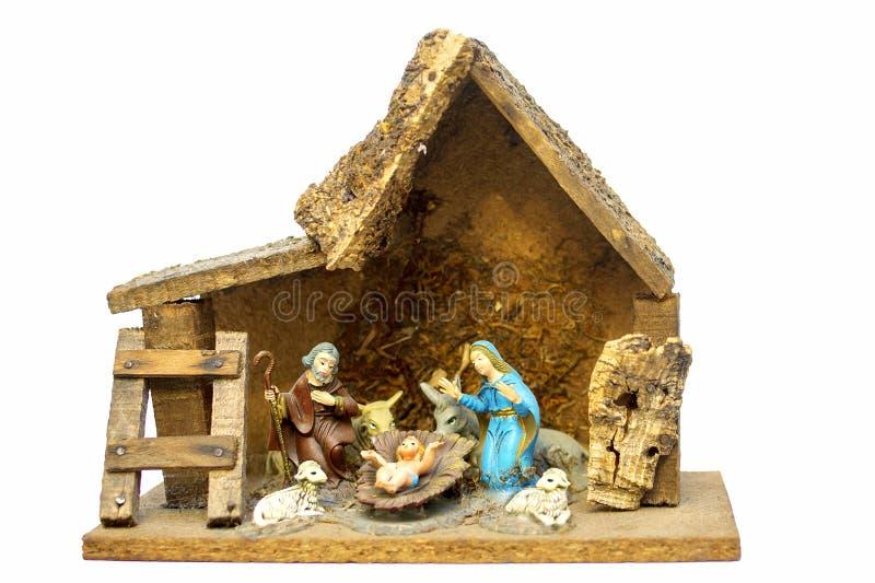 Σύνθεση που απεικονίζει το Nativity Χριστού στοκ φωτογραφία