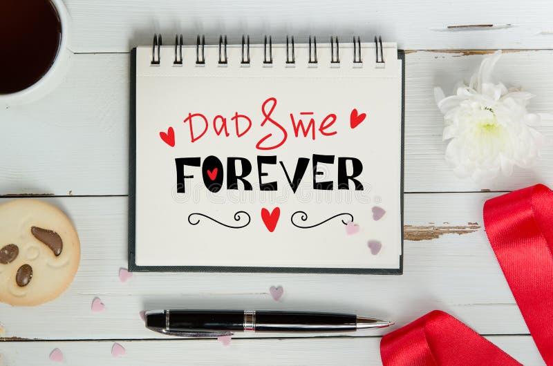 Σύνθεση σημειώσεων χαιρετισμού εγγραφής ημέρας πατέρων ` s στοκ εικόνες