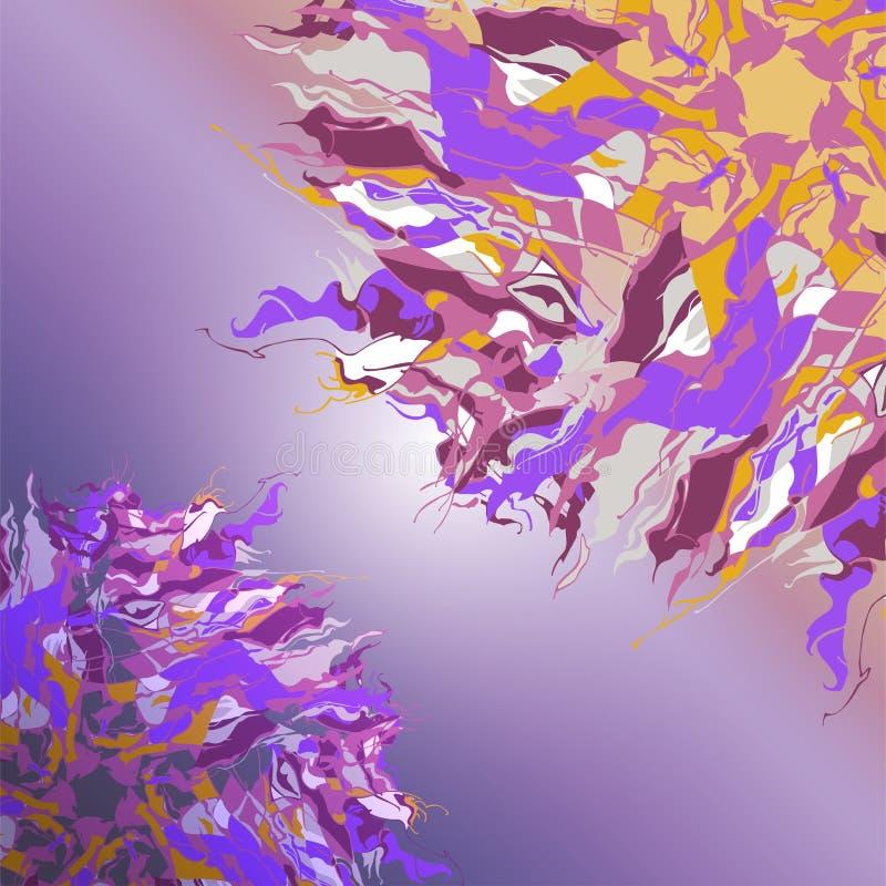 Σύνθεση της φαντασίας γύρω από τις διακοσμήσεις - ρέοντας ροζέτες απεικόνιση αποθεμάτων