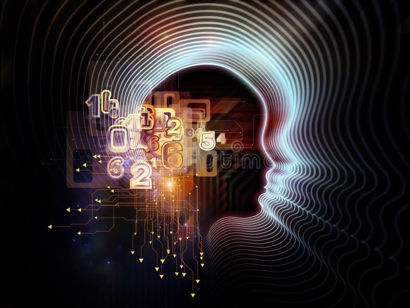 Εννοιολογική ανθρώπινη τεχνολογία διανυσματική απεικόνιση