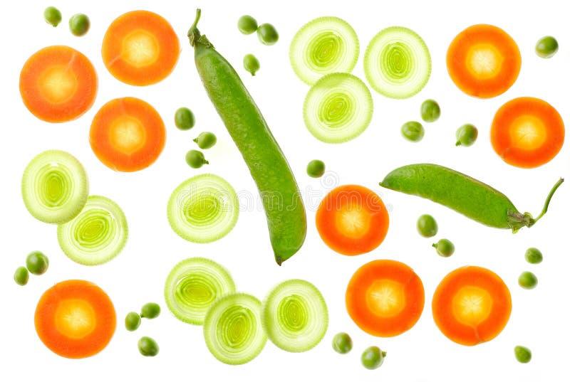 Σύνθεση των διάφορων τεμαχισμένων λαχανικών στοκ φωτογραφία με δικαίωμα ελεύθερης χρήσης