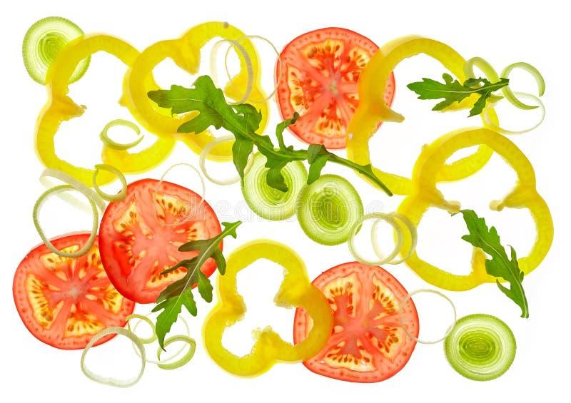 Σύνθεση των διάφορων τεμαχισμένων λαχανικών στοκ φωτογραφίες με δικαίωμα ελεύθερης χρήσης