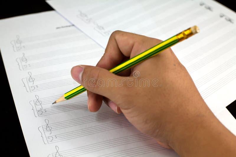 Σύνθεση των μουσικών νοτών για χαρτί στοκ φωτογραφία με δικαίωμα ελεύθερης χρήσης