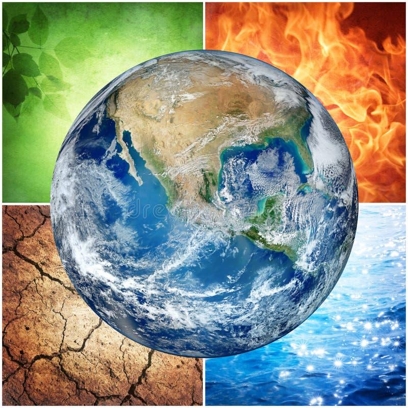 Σύνθεση των φυσικών στοιχείων και της γης ελεύθερη απεικόνιση δικαιώματος