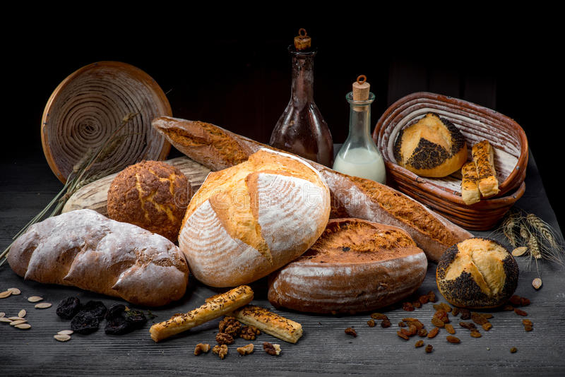 Σύνθεση των ψωμιών στοκ εικόνες με δικαίωμα ελεύθερης χρήσης