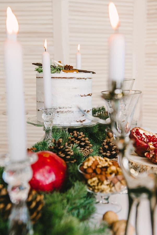 Σύνθεση Χριστουγέννων του ξύλου στοκ εικόνες