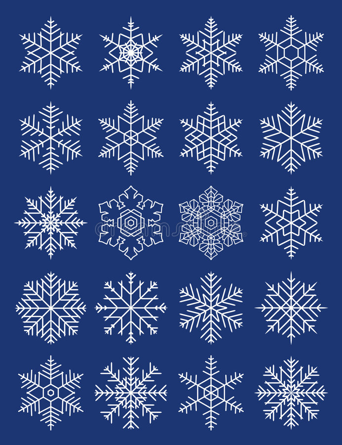 σύνθετα γεωμετρικά snowflakes διανυσματική απεικόνιση