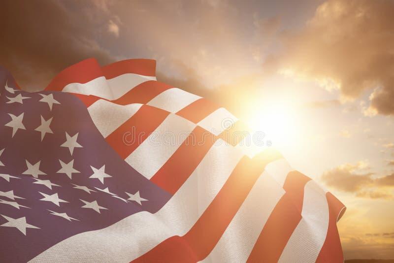 Σύνθετη εικόνα στενού επάνω εμείς σημαία στοκ φωτογραφία