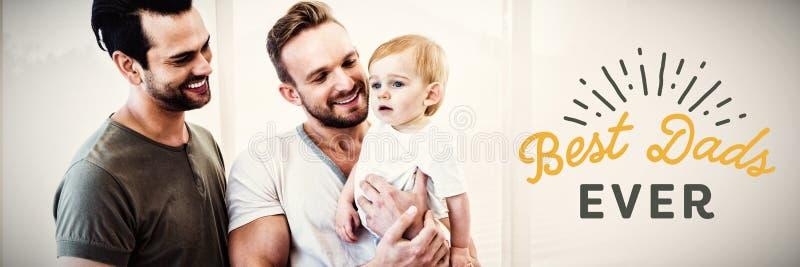 Σύνθετη εικόνα στενού επάνω του καλύτερου κειμένου dads πάντα στοκ φωτογραφία με δικαίωμα ελεύθερης χρήσης