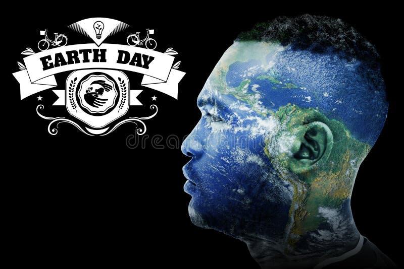 Σύνθετη εικόνα της γήινης ημέρας γραφική διανυσματική απεικόνιση