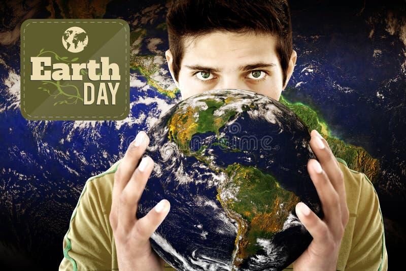 Σύνθετη εικόνα της γήινης ημέρας γραφική ελεύθερη απεικόνιση δικαιώματος