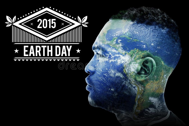 Σύνθετη εικόνα της γήινης ημέρας διανυσματική απεικόνιση