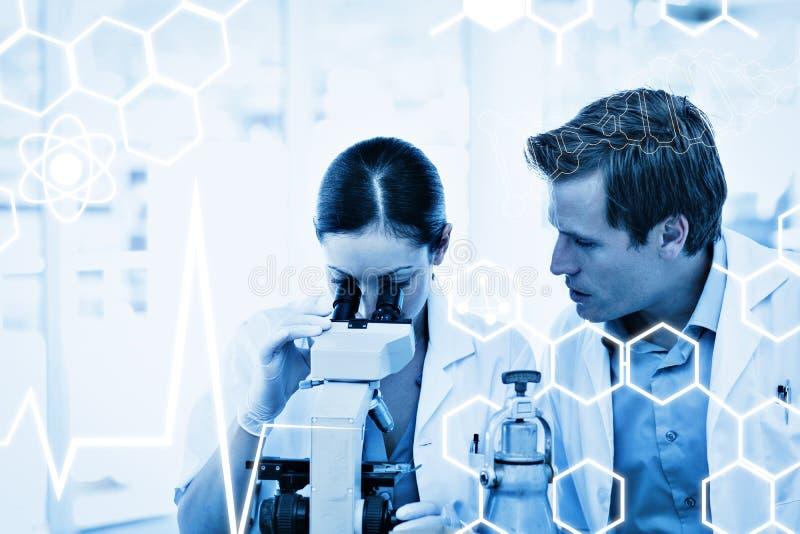 Σύνθετη εικόνα της επιστήμης γραφική στοκ εικόνες με δικαίωμα ελεύθερης χρήσης