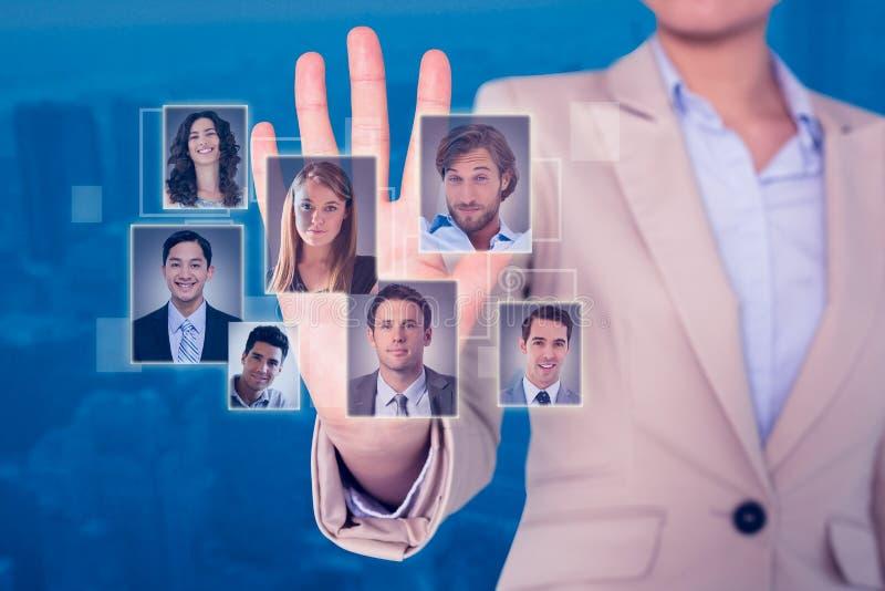 Σύνθετη εικόνα της επιχειρηματία σχετικά με στοκ φωτογραφίες
