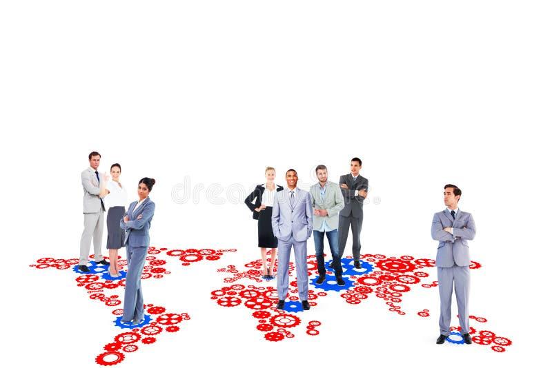 Σύνθετη εικόνα της επιχειρησιακής ομάδας στοκ εικόνες με δικαίωμα ελεύθερης χρήσης