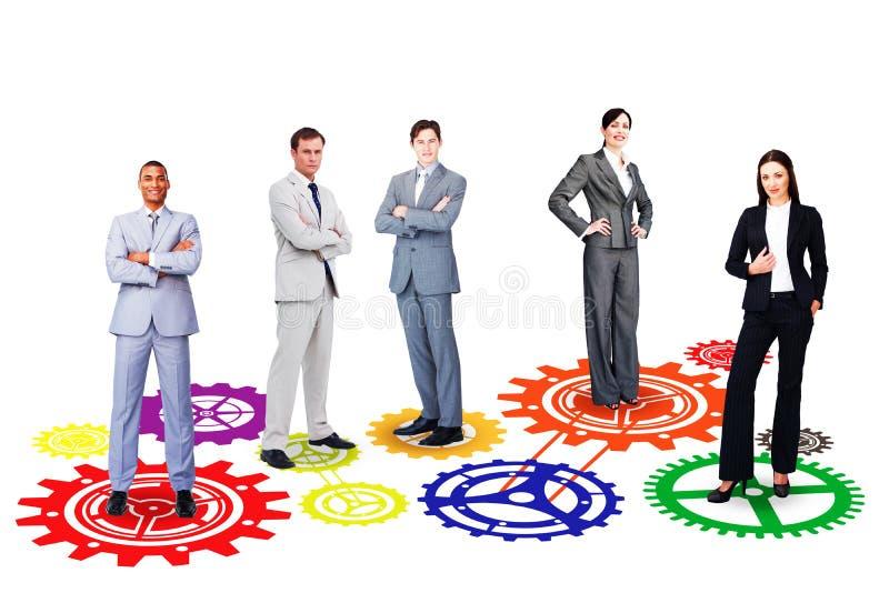 Σύνθετη εικόνα της επιχειρησιακής ομάδας στοκ εικόνες
